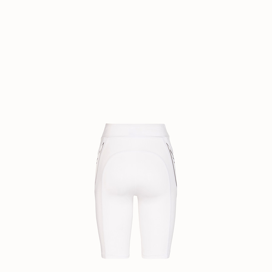FENDI CYCLIST BERMUDAS - White lycra shorts - view 2 detail