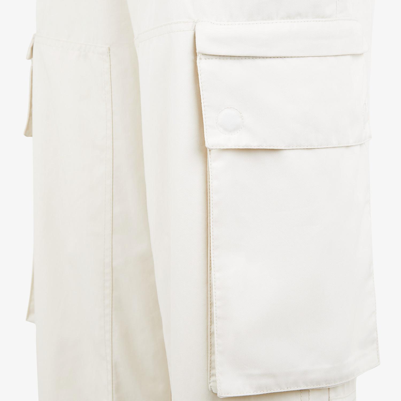 FENDI PANTS - White cotton pants - view 3 detail