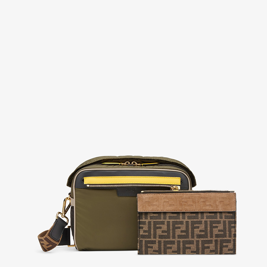 FENDI MESSENGER - Green nylon bag - view 2 detail