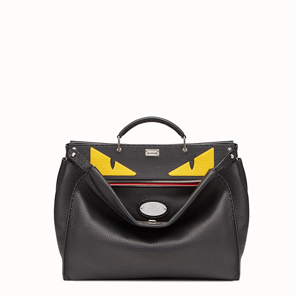 FENDI PEEKABOO ICONIC MEDIUM - Black leather backpack - view 1 small thumbnail