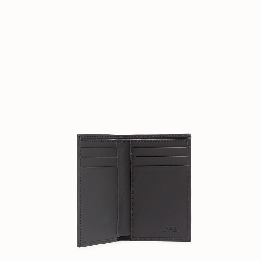 FENDI CARD HOLDER - Black fabric wallet - view 3 detail