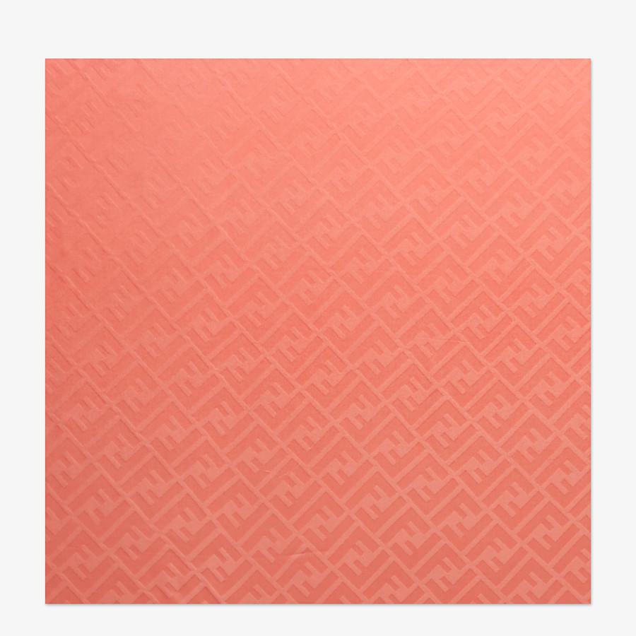 FENDI STOLA - Stola aus Seide in Rot mit Farbverlauf - view 1 detail