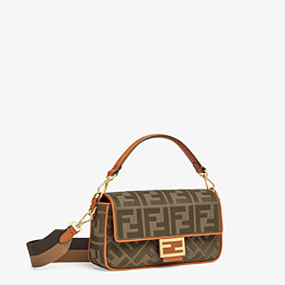 FENDI BAGUETTE - Green canvas bag - view 3 thumbnail