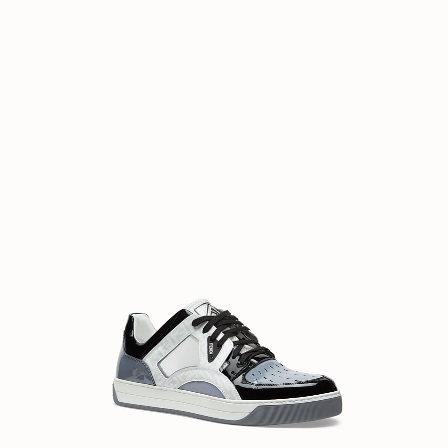 FENDI SNEAKERS - Multicolor patent leather low top - view 2 detail