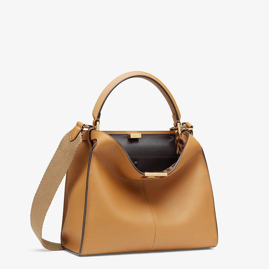 FENDI PEEKABOO X-LITE MEDIUM - Beige leather bag - view 3 detail