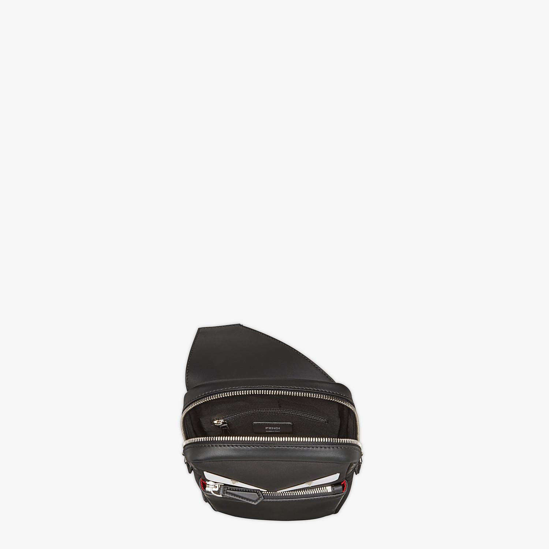 FENDI BELT BAG - Fabric and black leather satchel - view 4 detail