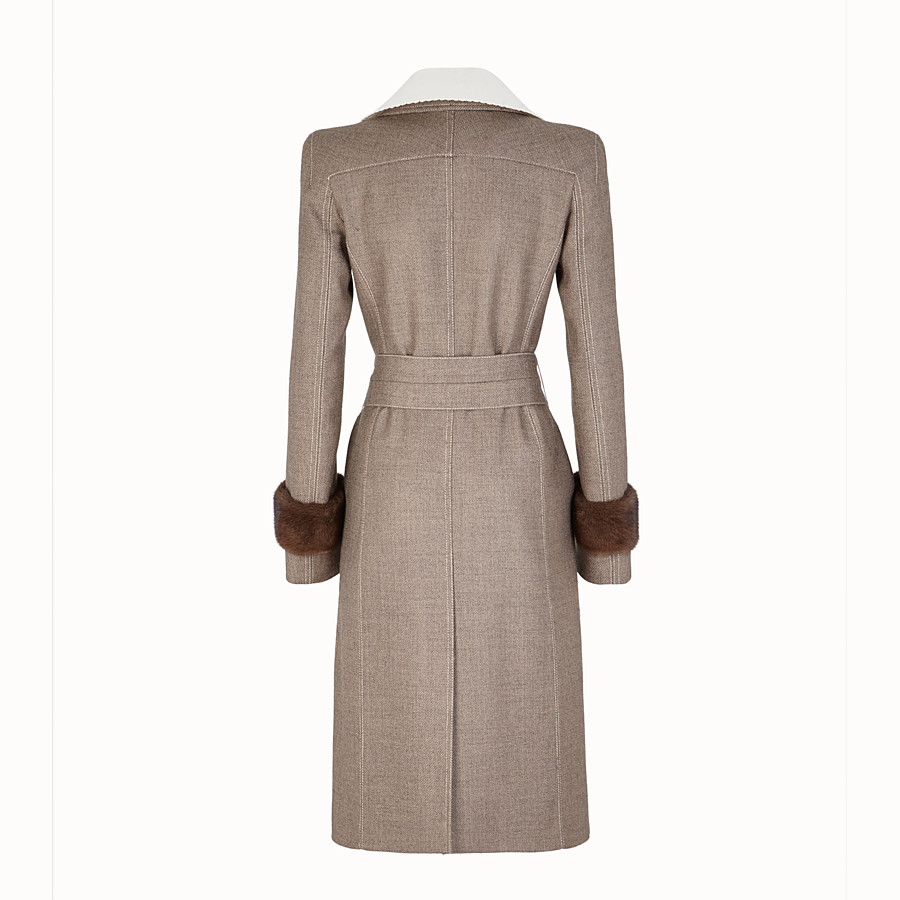FENDI OVERCOAT - Grisaille fabric outerwear - view 2 detail