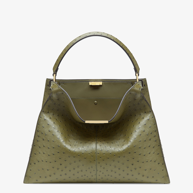 FENDI PEEKABOO X-LITE LARGE - Green ostrich leather bag - view 2 detail