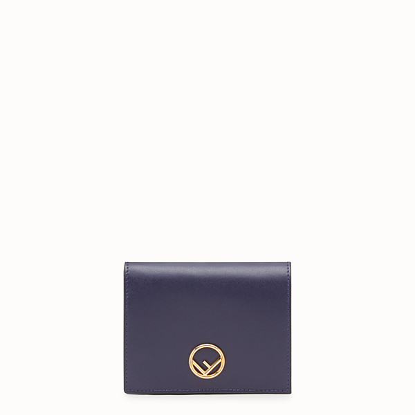 FENDI BIFOLD - Blue leather compact wallet - view 1 small thumbnail