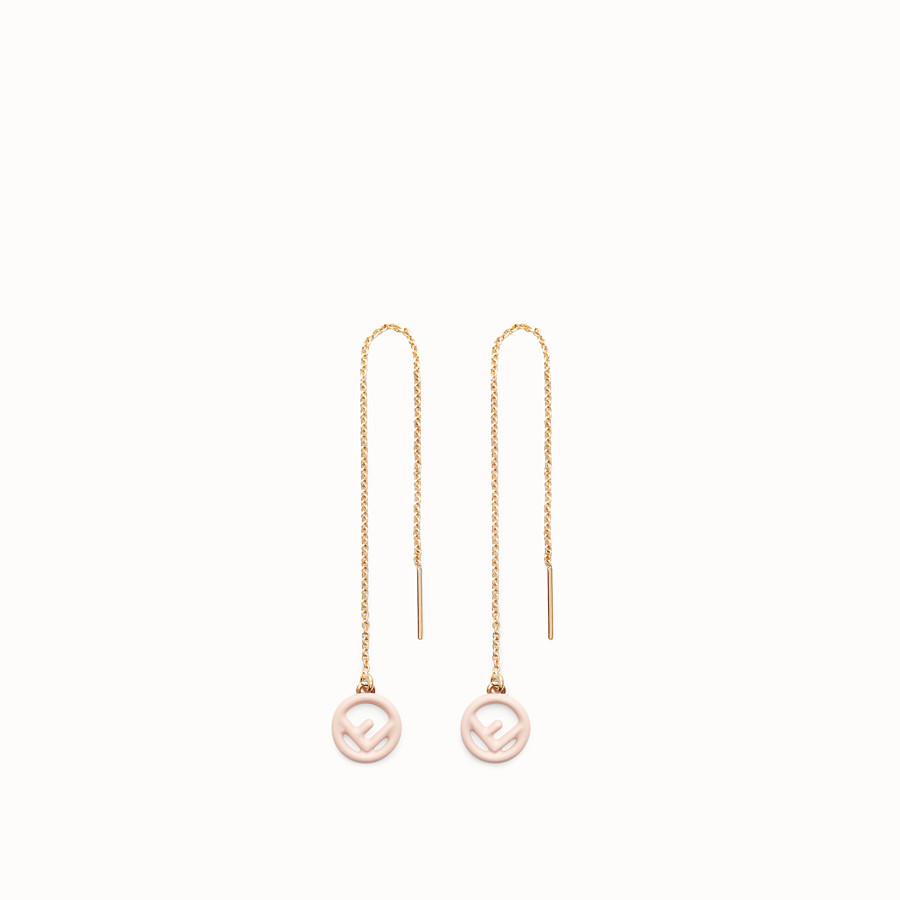 FENDI F IS FENDI EARRINGS - Gold and pink coloured earrings - view 1 detail