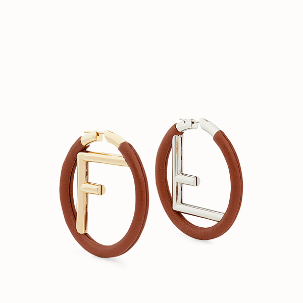 FENDI F IS FENDI EARRINGS - Brown earrings - view 1 small thumbnail