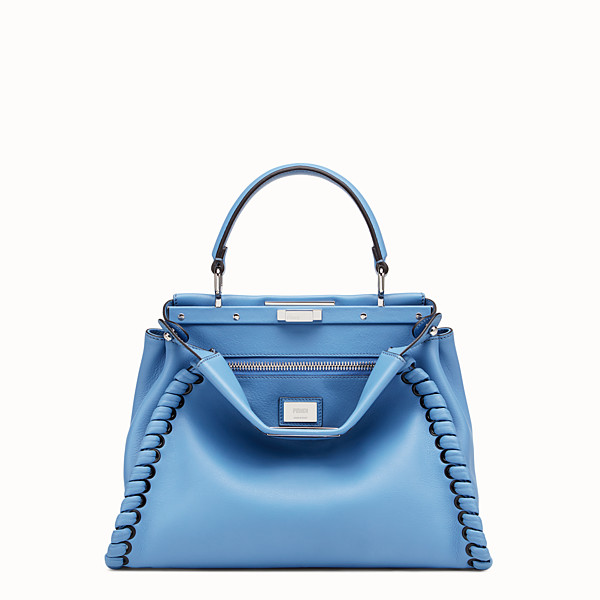 FENDI PEEKABOO REGULAR - Light blue leather mini-bag - view 1 small thumbnail