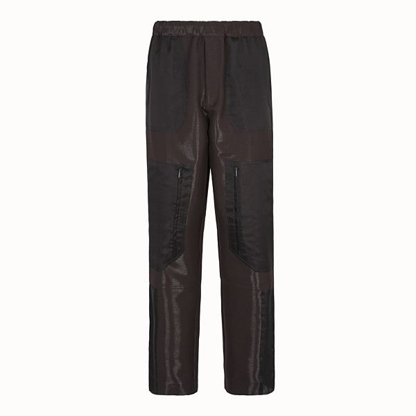 FENDI PANTS - Brown tech wool pants - view 1 small thumbnail
