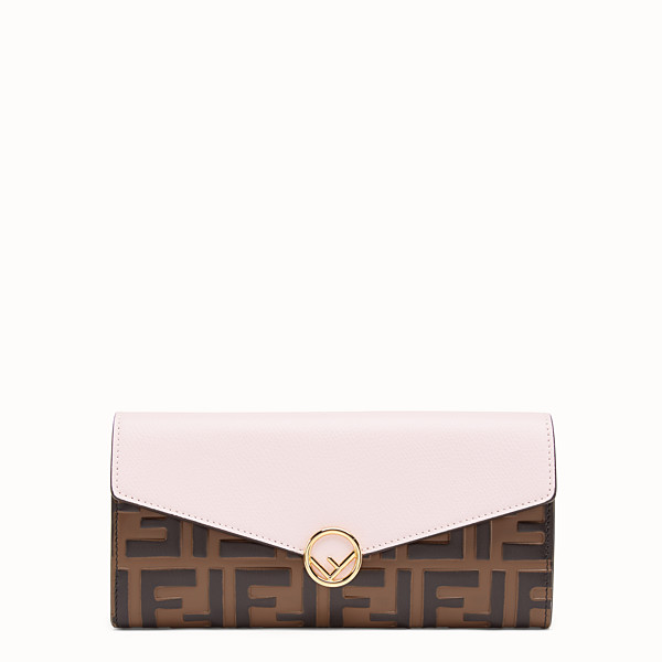 FENDI CARTERA CONTINENTAL - Cartera de piel rosa - view 1 small thumbnail