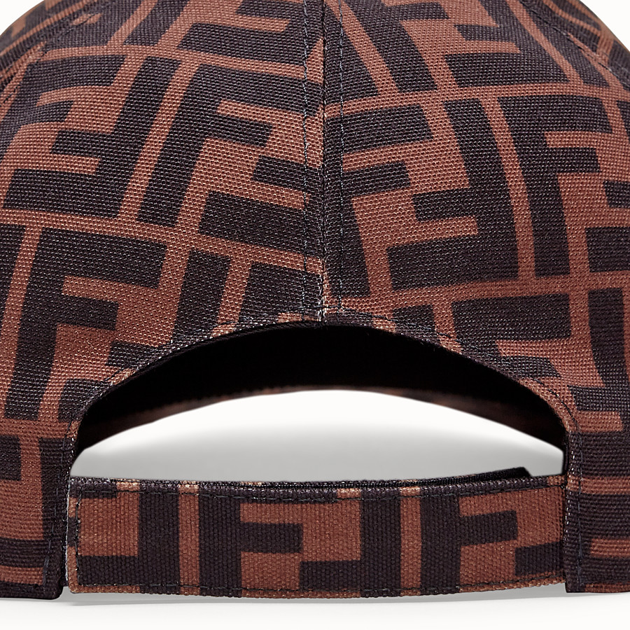 FENDI HAT - Brown fabric baseball cap - view 2 detail