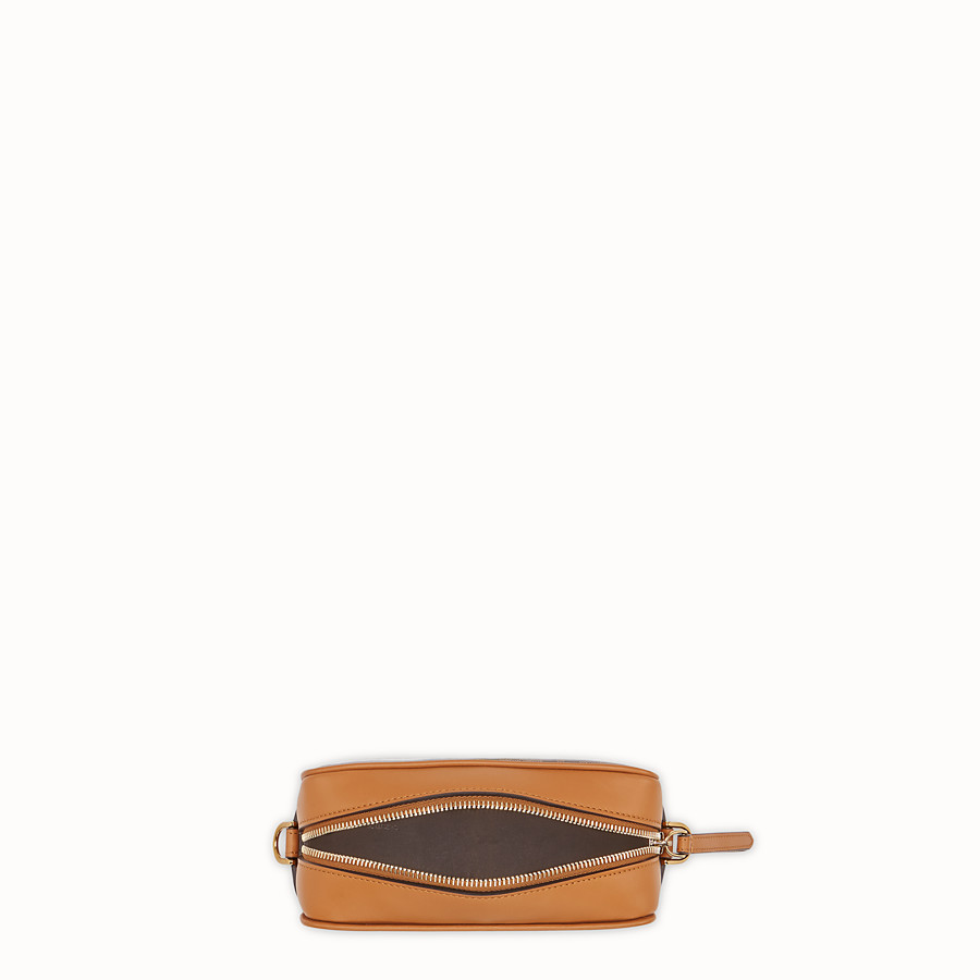 FENDI MINI CAMERA CASE - Brown canvas bag - view 4 detail