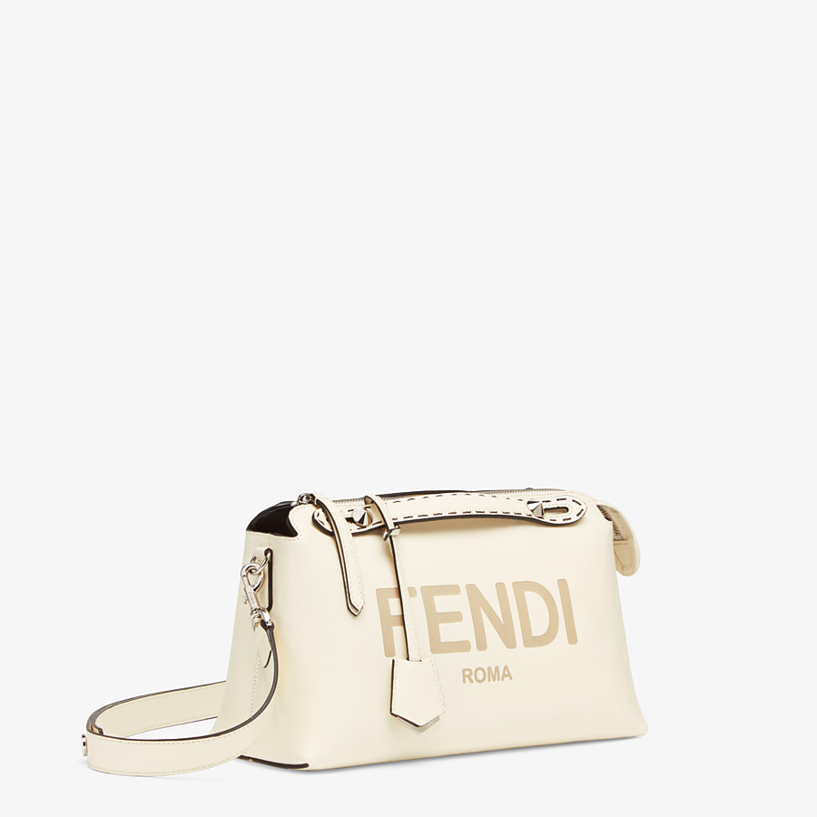 FENDI BY THE WAY MEDIUM - White leather Boston bag - view 3 detail