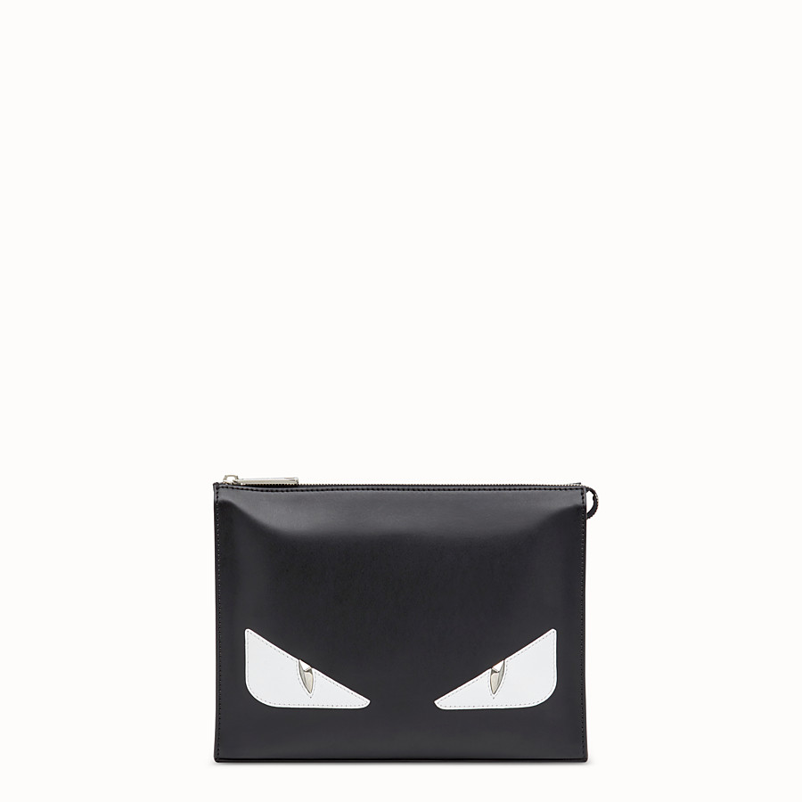 FENDI CLUTCH - Pochette aus Leder in Schwarz - view 1 detail