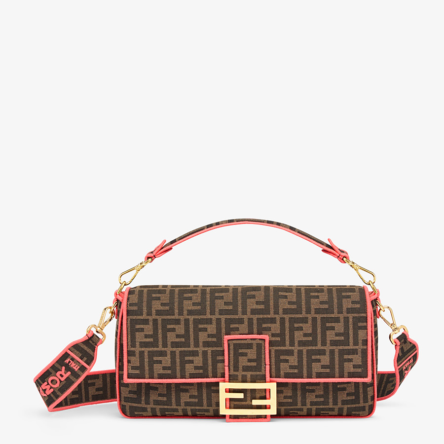 FENDI BAGUETTE LARGE - Fendi Roma/Amor fabric bag - view 1 detail