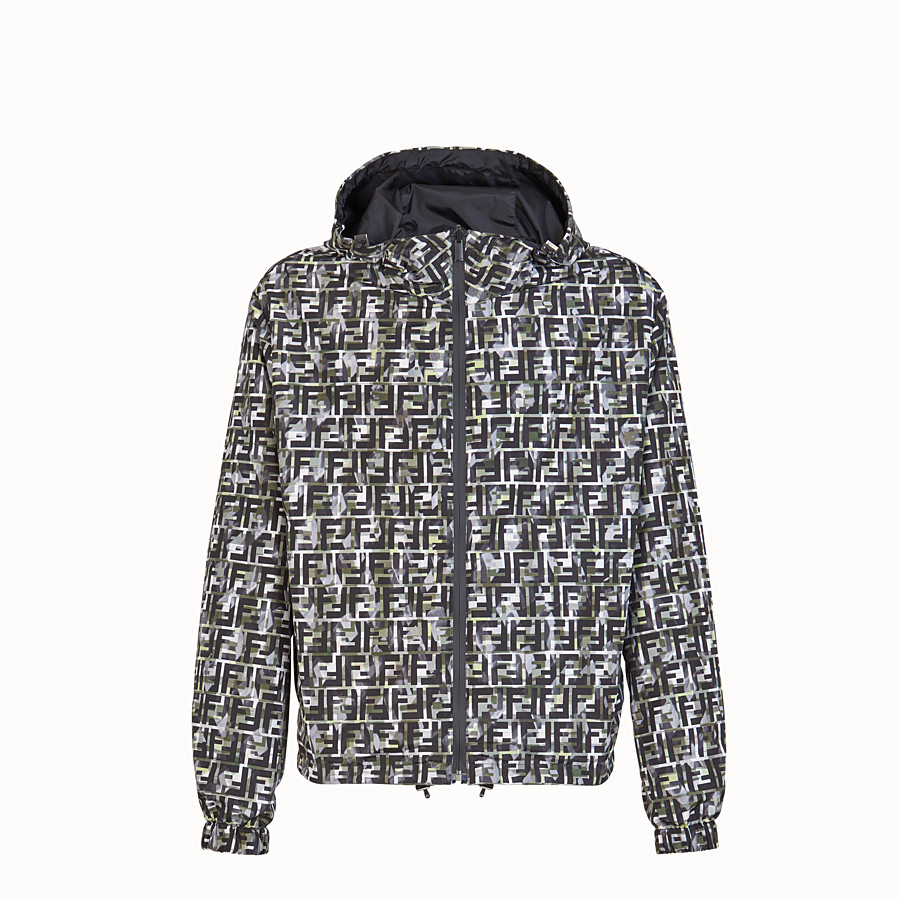 FENDI BLOUSON JACKET - Multicolour nylon jacket - view 1 detail