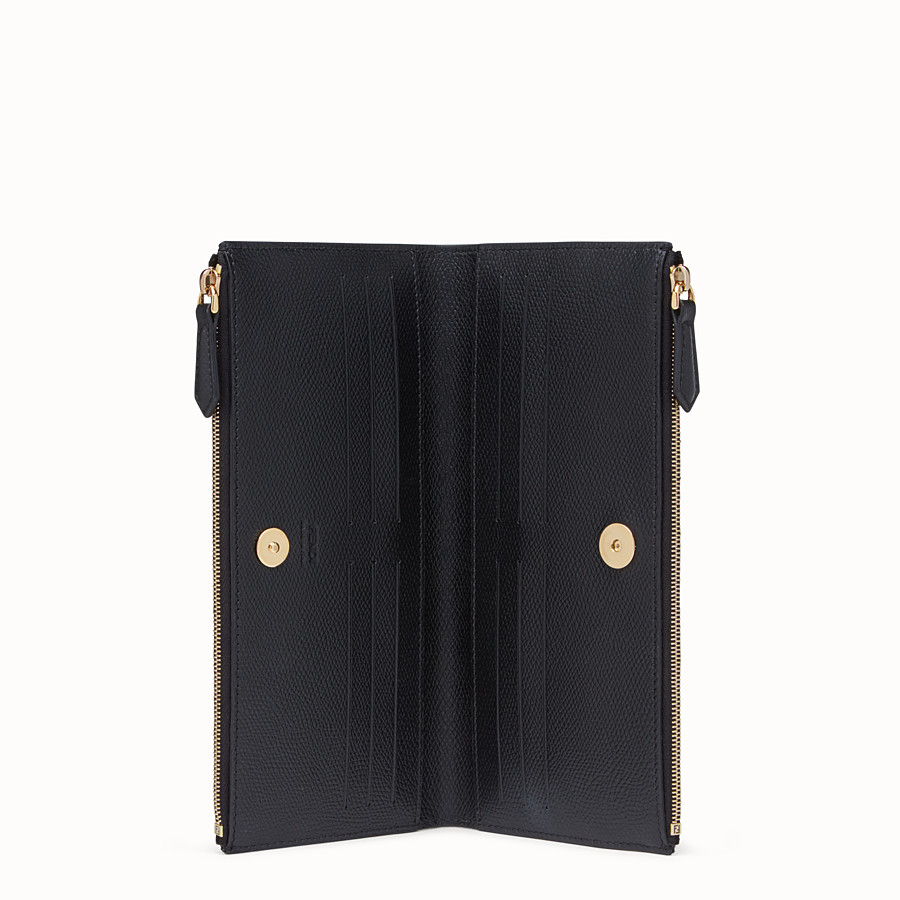 FENDI BIFOLD - Black leather wallet - view 3 detail