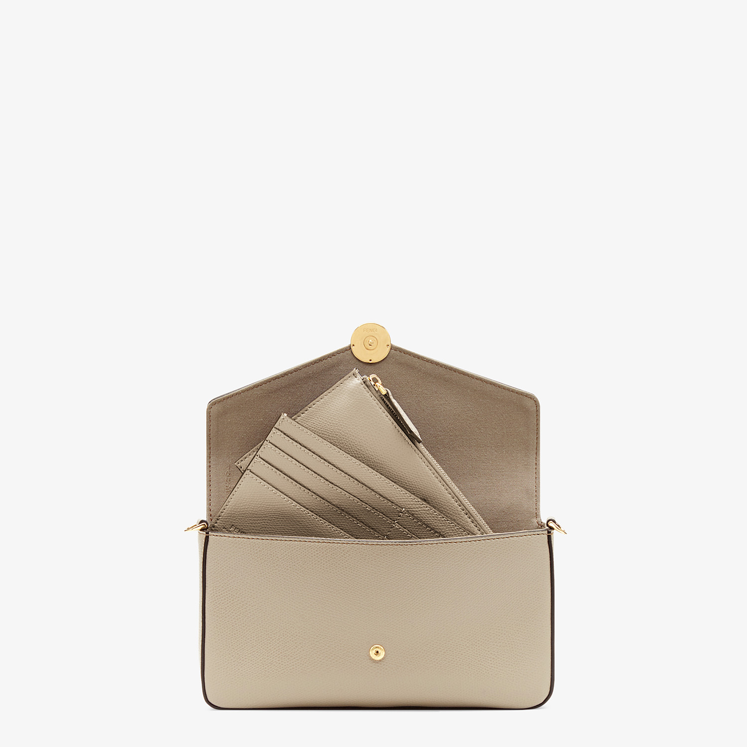 FENDI WALLET ON CHAIN WITH POUCHES - Beige leather minibag - view 6 detail