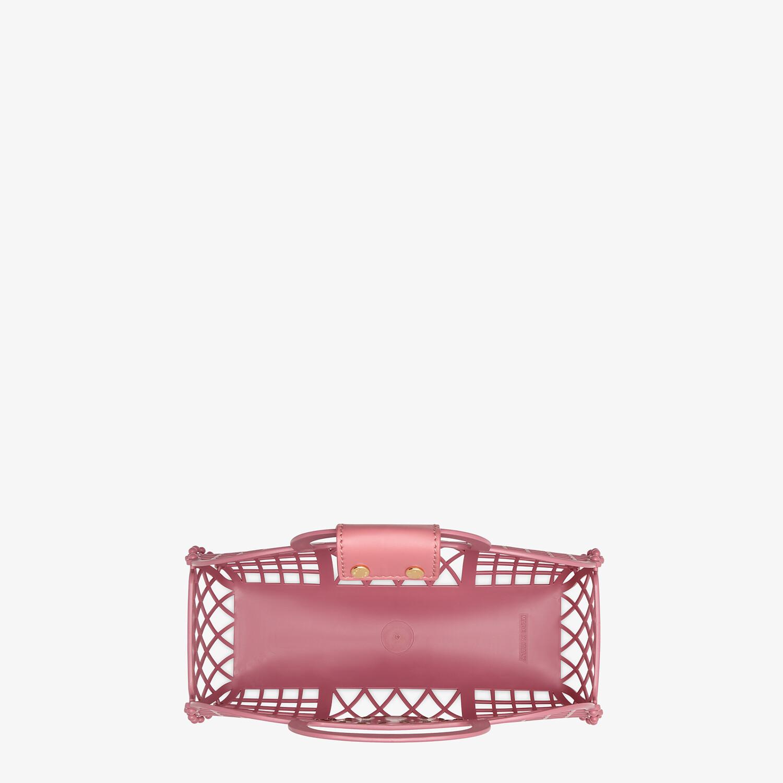 FENDI FENDI BASKET SMALL - Pink recycled plastic mini-bag - view 4 detail