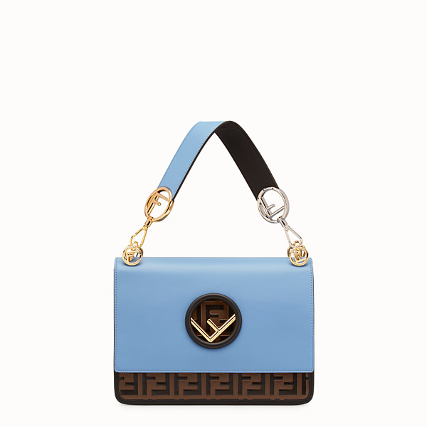 FENDI KAN I F - Pale blue leather bag - view 1 small thumbnail