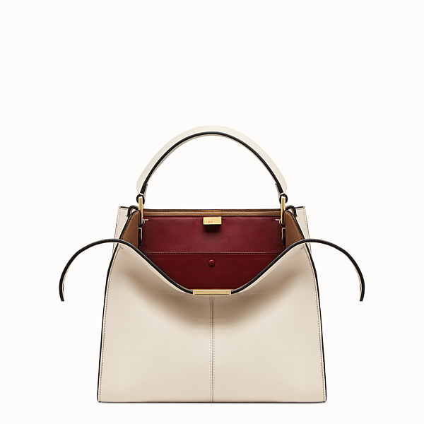 FENDI PEEKABOO X-LITE REGULAR - White leather bag - view 1 small thumbnail
