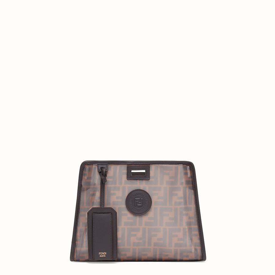 FENDI SMALL PEEKABOO DEFENDER - Brown mesh Peekaboo cover - view 1 detail
