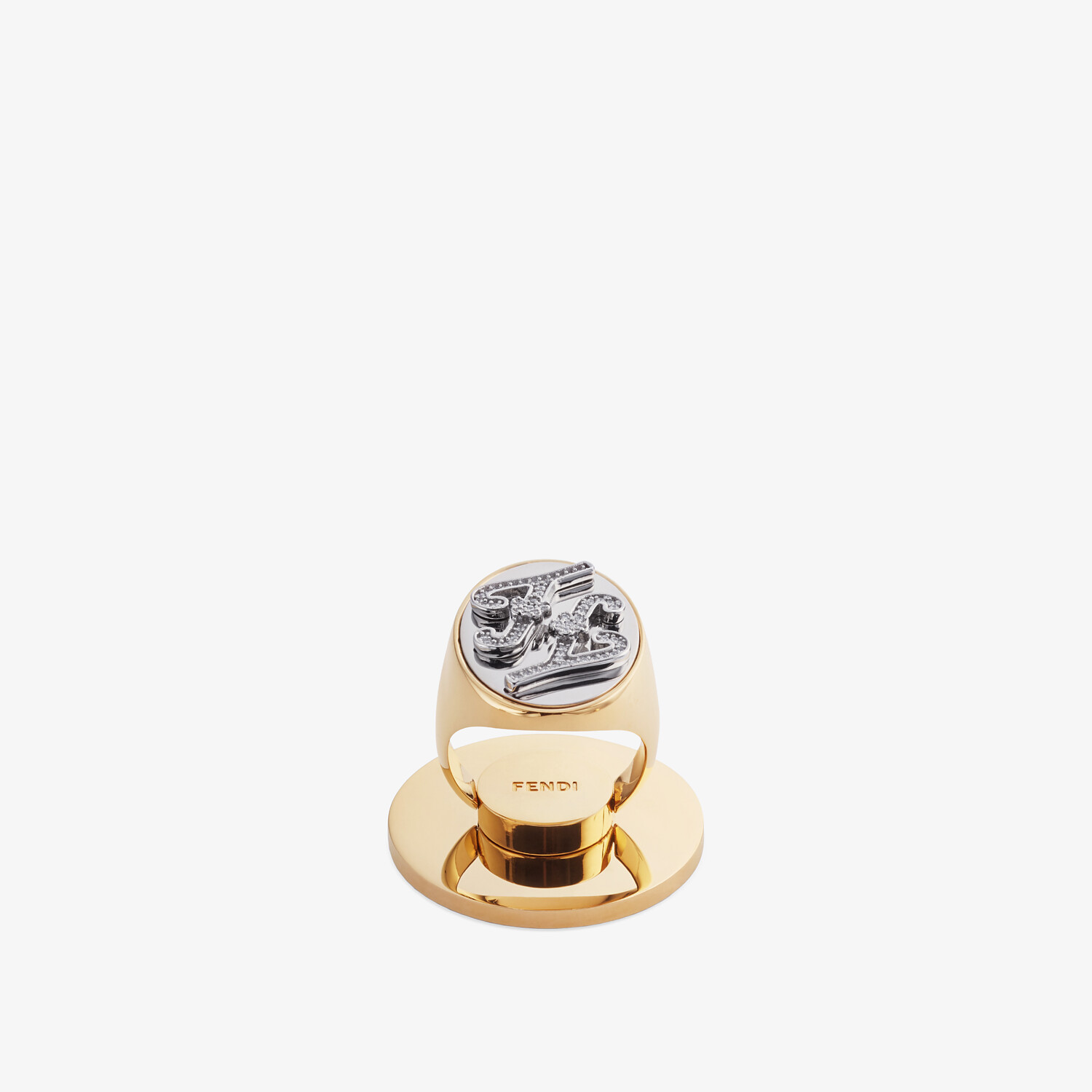 FENDI KARLIGRAPHY SMART RING - Gold-color ring - view 1 detail