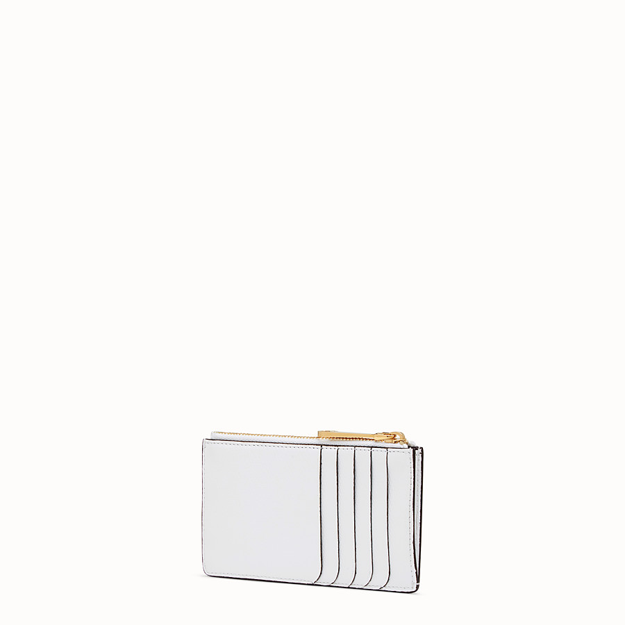 FENDI CARD POUCH - White leather card holder - view 2 detail