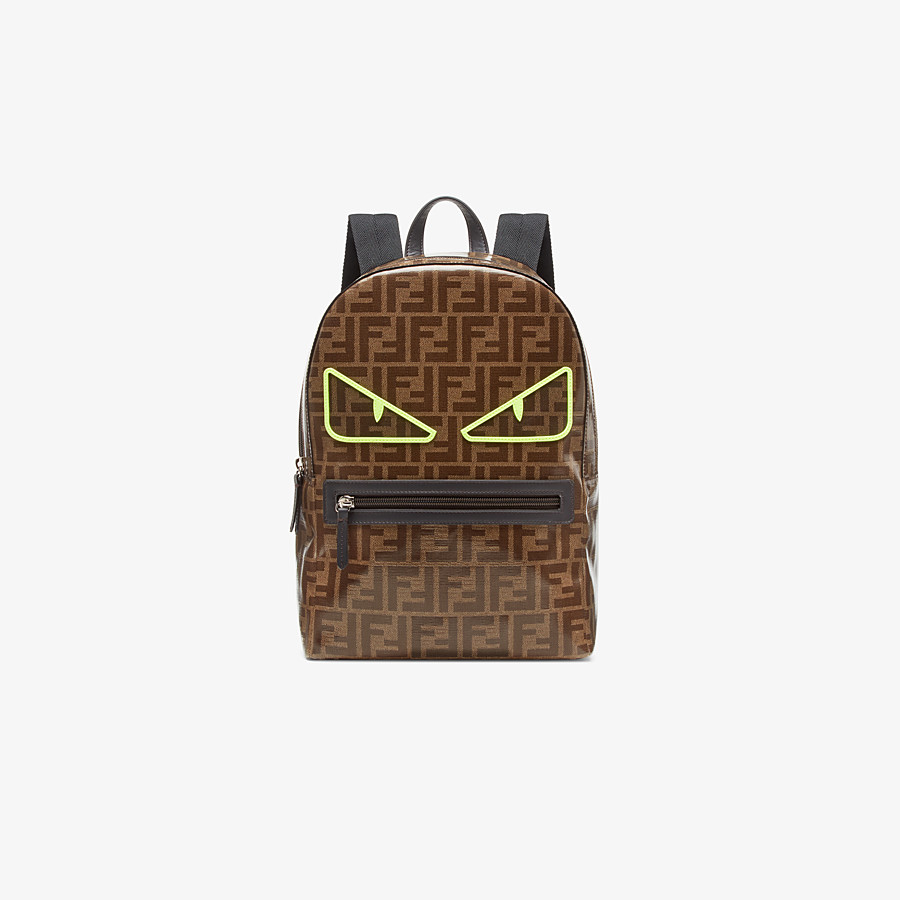 FENDI BABY BACKPACK - Brown leather backpack - view 1 detail