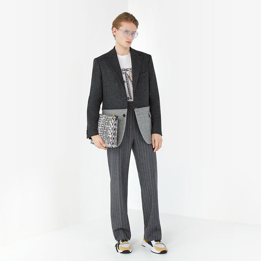 FENDI JACKET - Gray wool flannel blazer - view 7 detail