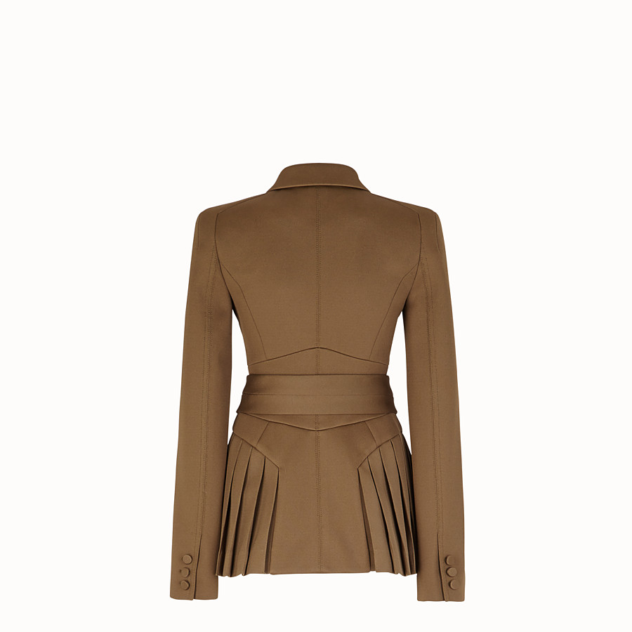 FENDI JACKET - Beige cotton jacket - view 2 detail