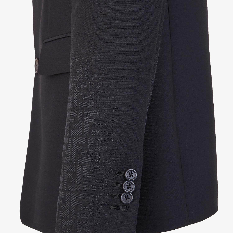 FENDI JACKET - Black wool blazer - view 4 detail