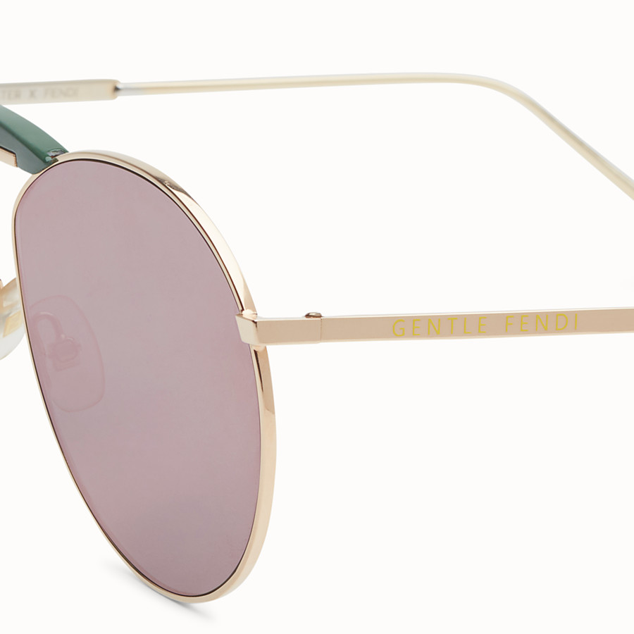 FENDI GENTLE FENDI - Copper-coloured sunglasses - view 3 detail