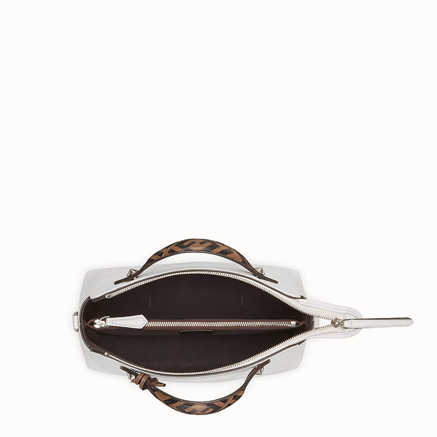 FENDI BY THE WAY REGULAR - White leather Boston bag - view 4 detail