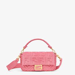 FENDI BAGUETTE - Pink terrycloth bag - view 1 thumbnail