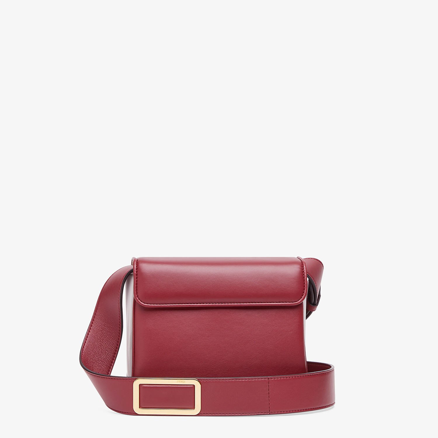 FENDI FENDI ID SMALL - Burgundy leather bag - view 4 detail