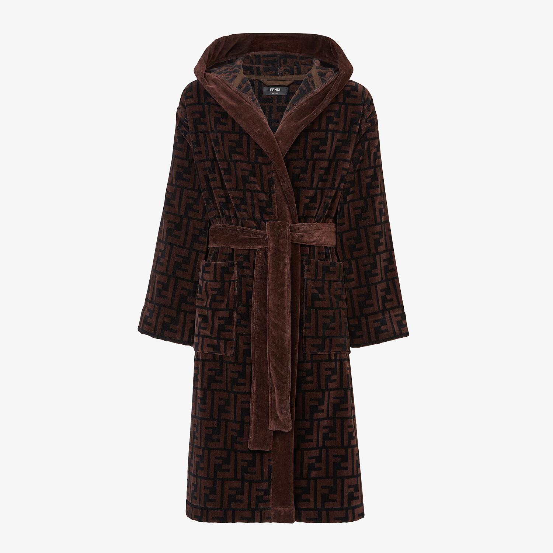 FENDI 浴袍 - 棕色棉質浴袍 - view 1 detail