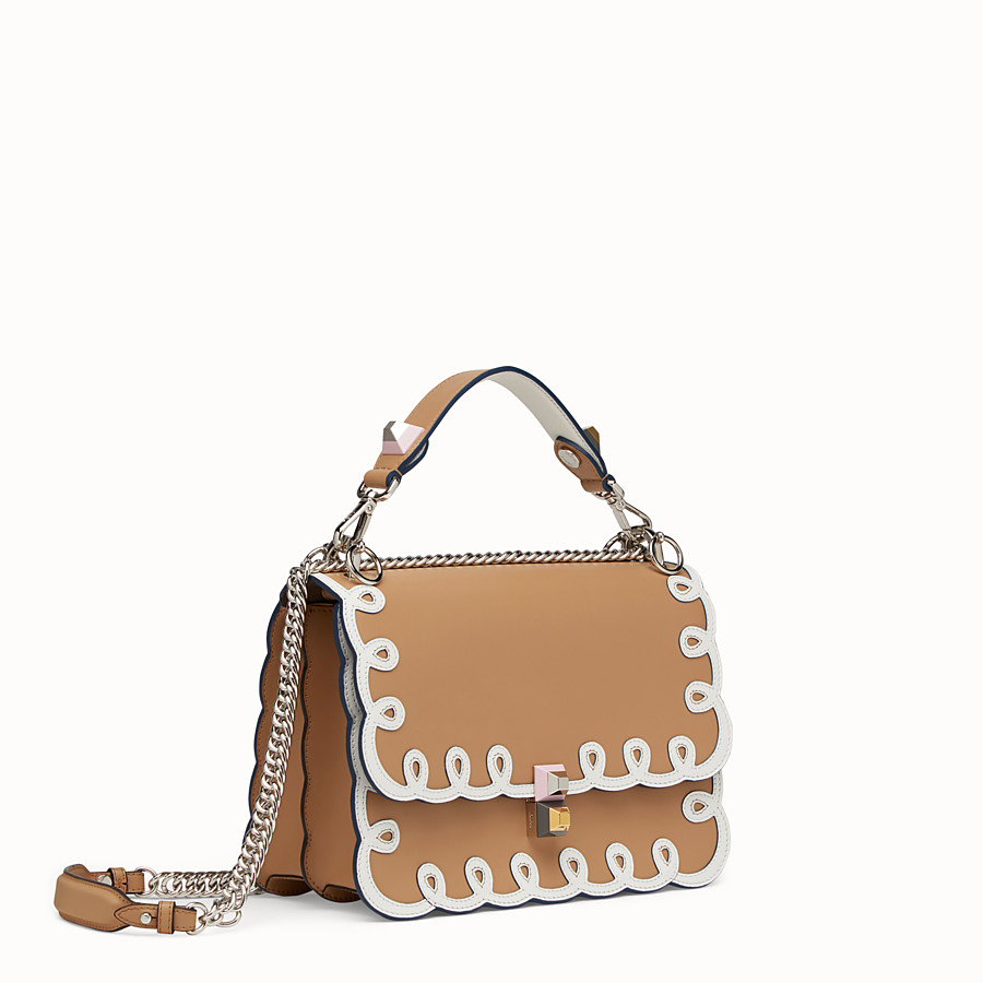 FENDI KAN I - Bag in white and natural-coloured leather - view 2 detail