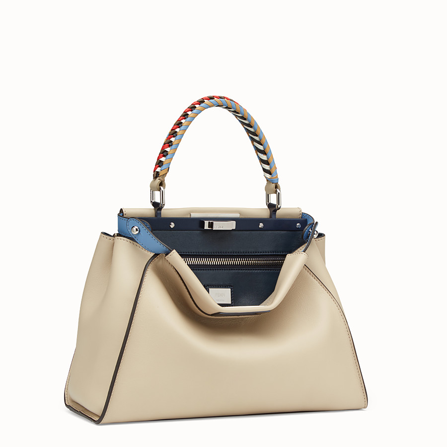 FENDI PEEKABOO REGULAR - Beige leather bag - view 2 detail