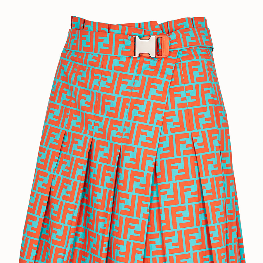 FENDI SKIRT - Multicolour cotton skirt - view 3 detail