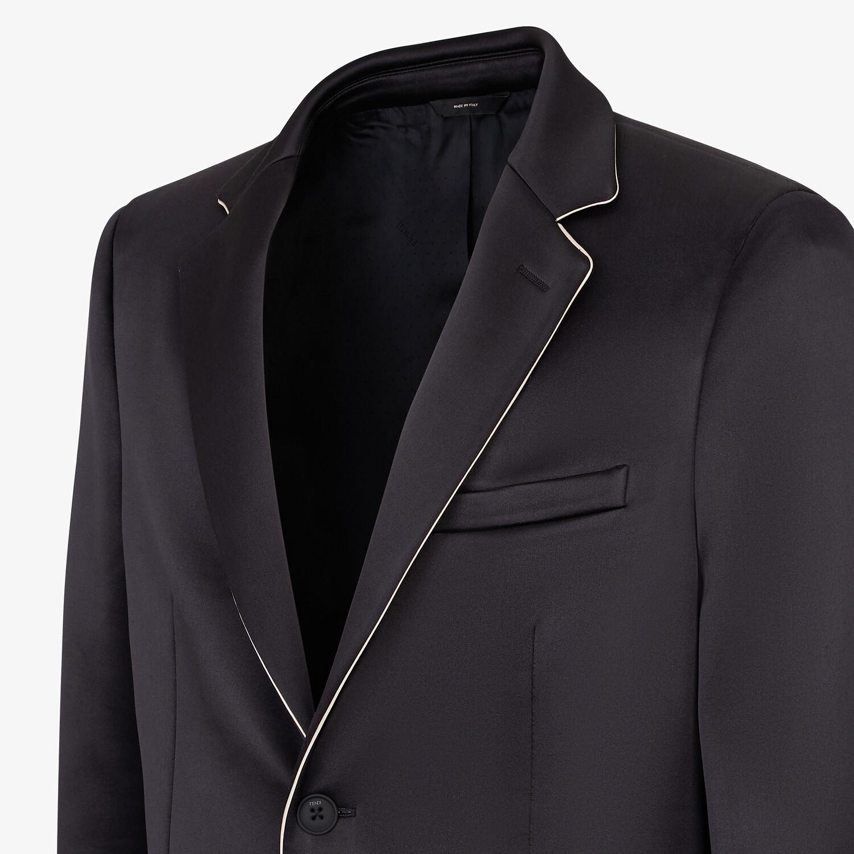 FENDI JACKET - Black satin blazer - view 4 detail