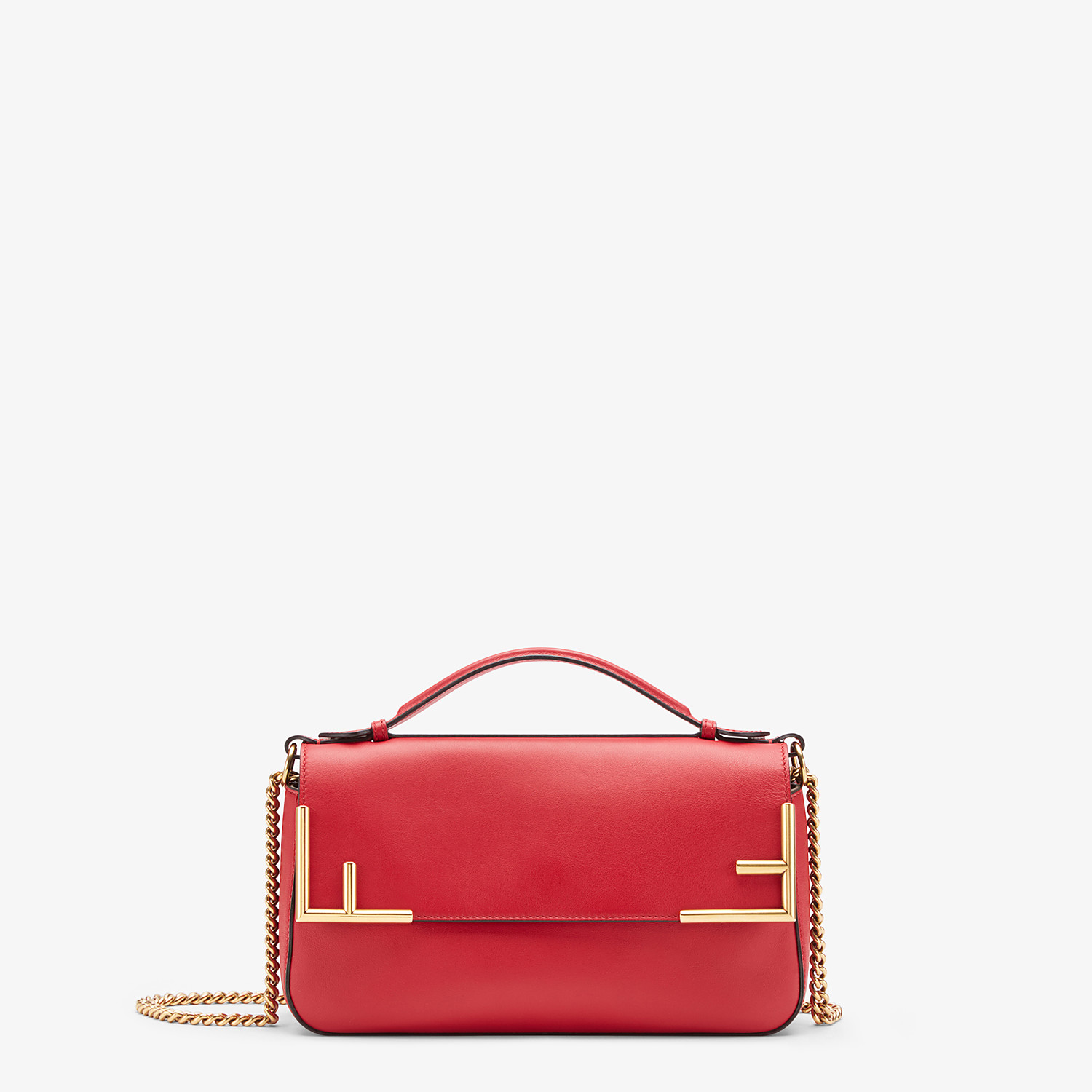 FENDI DOUBLE F - Multicolour leather and fabric bag - view 1 detail