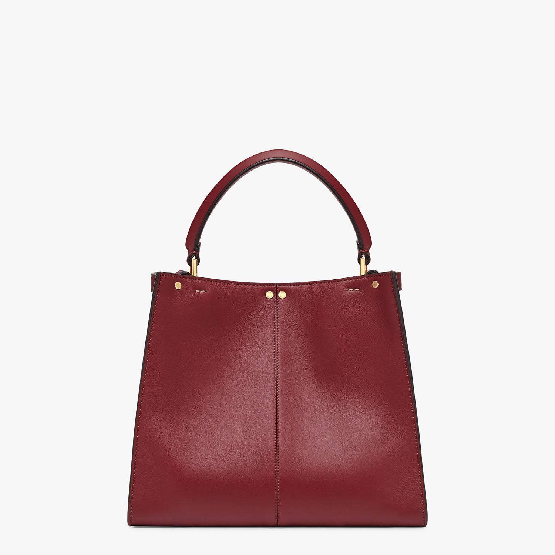 FENDI MEDIUM PEEKABOO X-LITE - Burgundy leather bag - view 5 detail