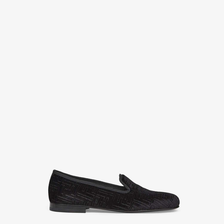 FENDI SLIPPERS - Black velvet slippers - view 1 detail