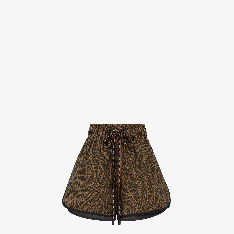 FENDI SHORTS - Brown canvas pants - view 1 detail