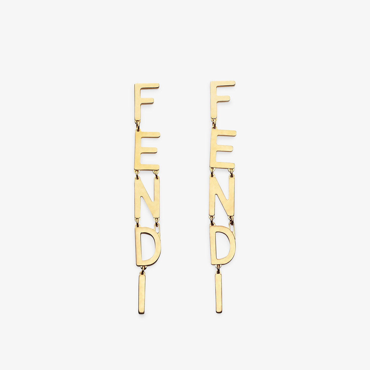 FENDI SIGNATURE EARRINGS - Gold-color earrings - view 1 detail